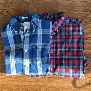 Boys XL plaid Back to School shirts